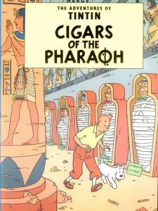 کتاب تن تن انگلیسی (سیگارهای فرعون)