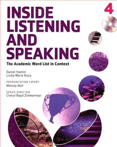 کتاب ‭Inside listening and speaking 4: the academic word list in context [Book]