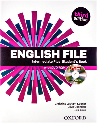 کتاب English File intermediate plus students book 3rd
